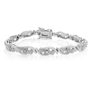 Diamond Accent Cluster Bracelet, 7 Inches
