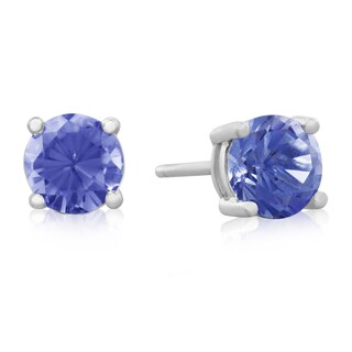 1/2Carat Tanzanite Stud Earrings in Sterling Silver