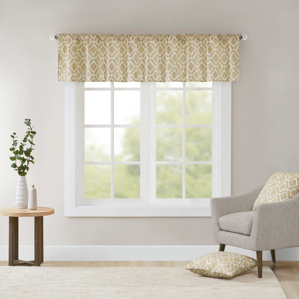 Shop Madison Park Ella Printed Diamond Window Valance - 50 x 18 - 50 x 18 - 10889476