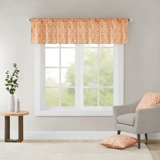 Madison Park Ella Printed Diamond Window Valance