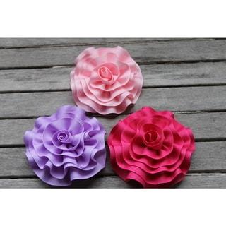 CarolineAlexander Handcrafted Girls' Ribbon Flower Hair Clip