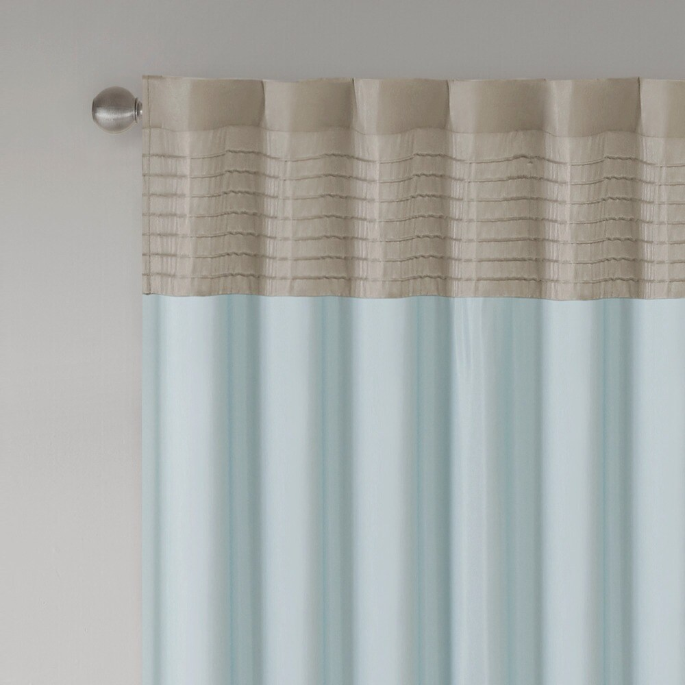 Shop Madison Park Tradewinds Polyoni Pintuck Single Curtain Panel - 50 X 84 - 50 X 84 - 10889481