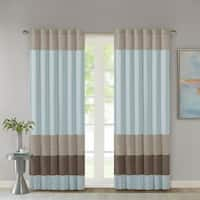 Madison Park Tradewinds Polyoni Pintuck Curtain Panel - 50 x 84