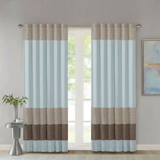 Madison Park Tradewinds Polyoni Pintuck Curtain Panel - 50 x 84