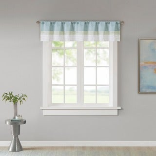 Link to Madison Park Chester Pieced and Pintuck Lined Window Valance with Rod Pocket Finish Similar Items in Window Treatments