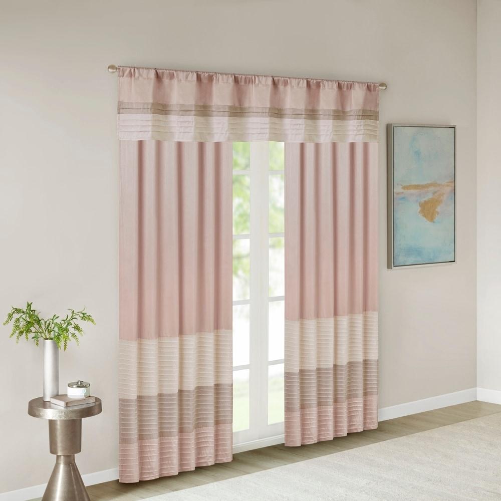 Shop Madison Park Eastridge Polyoni Pintuck Window Valance - 10889491