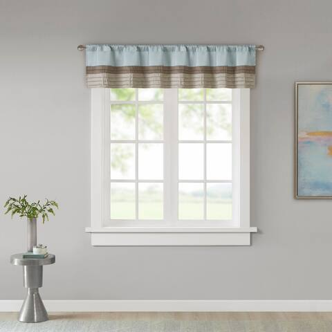 Madison Park Eastridge Polyoni Pintuck Window Valance