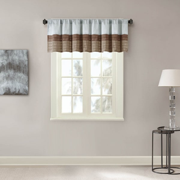 Madison Park Tradewinds Pintuck Lined Window Valance With