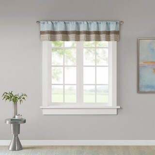 Madison Park Tradewinds Pintuck Lined Window Valance with Rod Pocket Top Finish