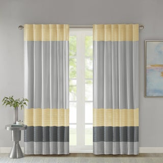 Madison Park Infinity Polyoni Pintuck Single Window Curtain Panel