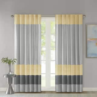 get colour just block your in charcoal customized design two curtains own black grey and colorblock days