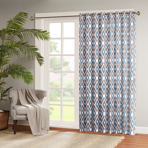 Shop Madison Park Stetsen Diamond Printed Patio Door Curtain Panel