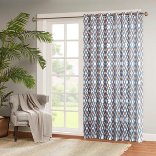 Madison Park Stetsen Diamond Printed Patio Door Curtain Panel