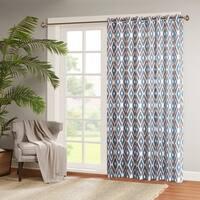 Madison Park Stetsen Diamond Printed Patio Door Curtain Panel