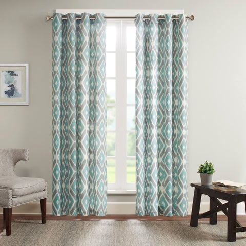 Madison Park Stetsen Diamond Printed Curtain Panel