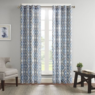 Madison Park Stetsen Diamond Printed Curtain Panel