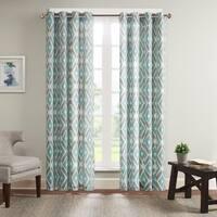 Madison Park Stetsen Diamond Printed Single Window Curtain Panel