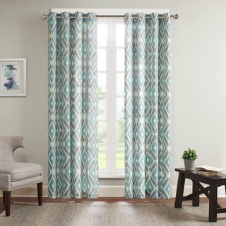 Madison Park Stetsen Diamond Printed Single Window Curtain Panel