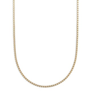 Pori 10k Yellow Gold Diamond Cut Box Venetian Chain Necklace