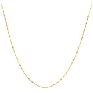 Pori 10k Yellow Gold Singapore Chain Necklace