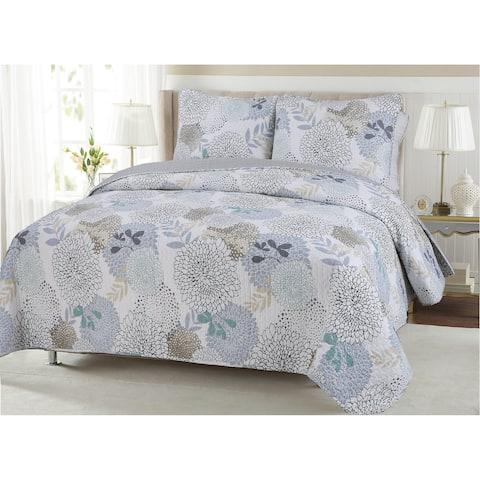 Copper Grove Dehiwala Floral Cotton 3-piece Quilt Set