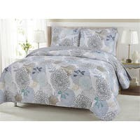 Copper Grove Dehiwala Floral Cotton 3-piece Quilt Set
