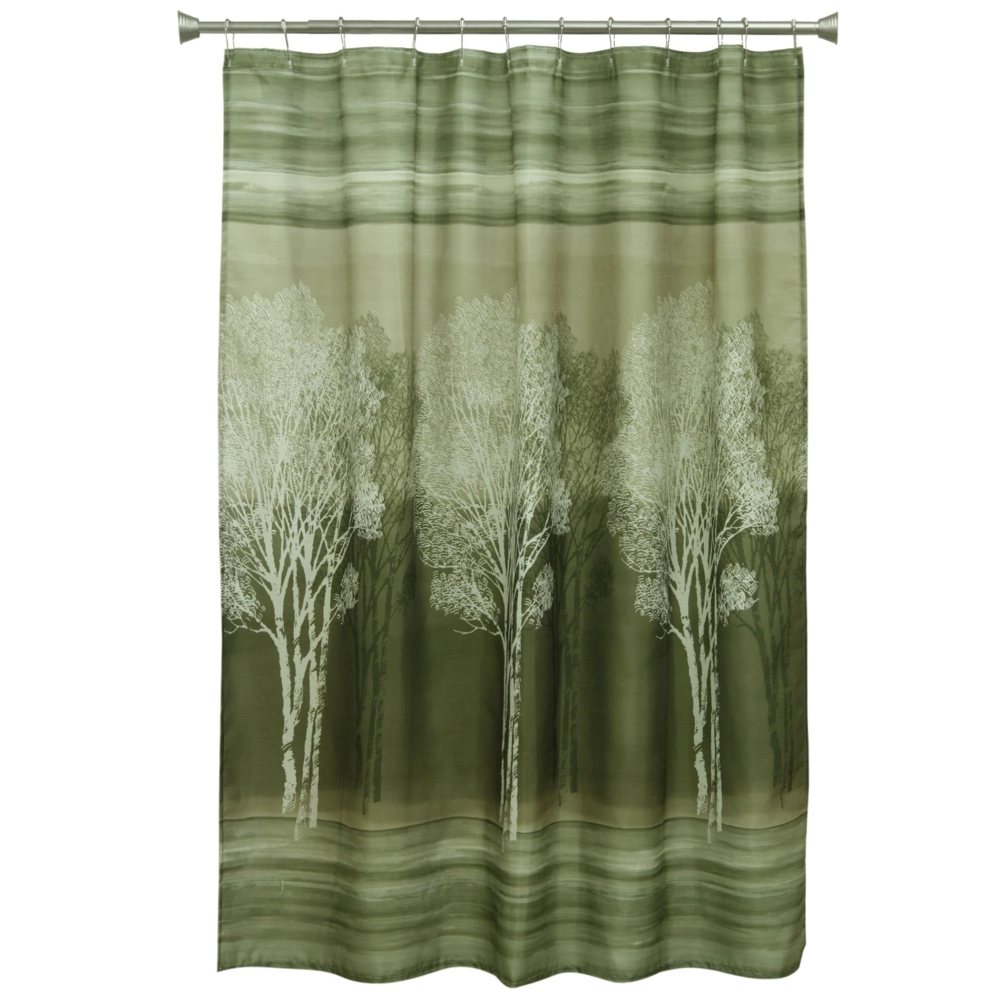 BACOVA Forest Silhouette Fabric Shower Curtain (Forest Si...
