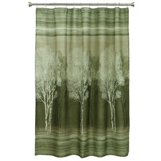 Forest Silhouette Fabric Shower Curtain
