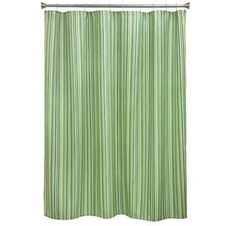 Sea Stripe Fabric Shower Curtain