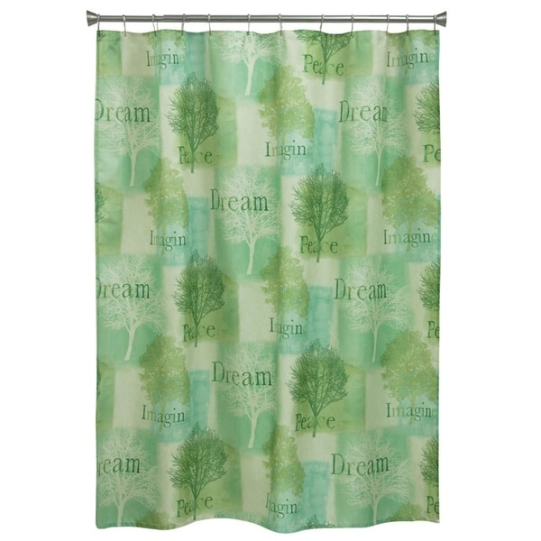 Spa Trees Fabric Shower Curtain