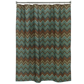 Sierra Zigzag Fabric Shower Curtain