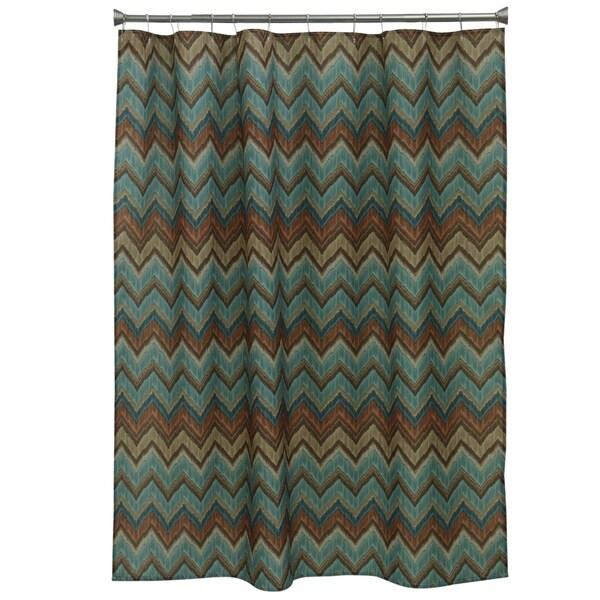 Sierra Zigzag Fabric Shower Curtain