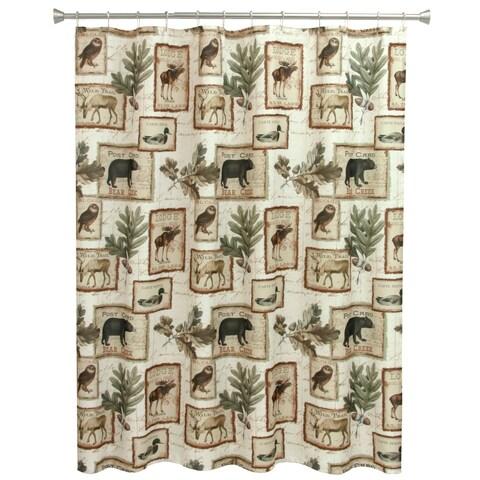Lodge Memories Fabric Shower Curtain
