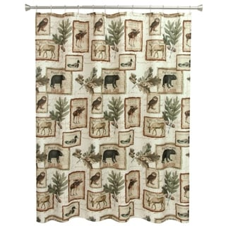 Lodge Memories Fabric Shower Curtain