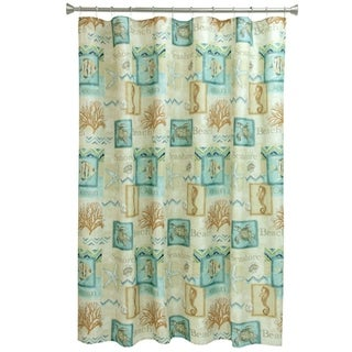 Chevron Beach Fabric Shower Curtain