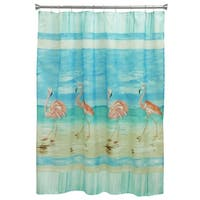 Flamingo Beach Shower Curtain