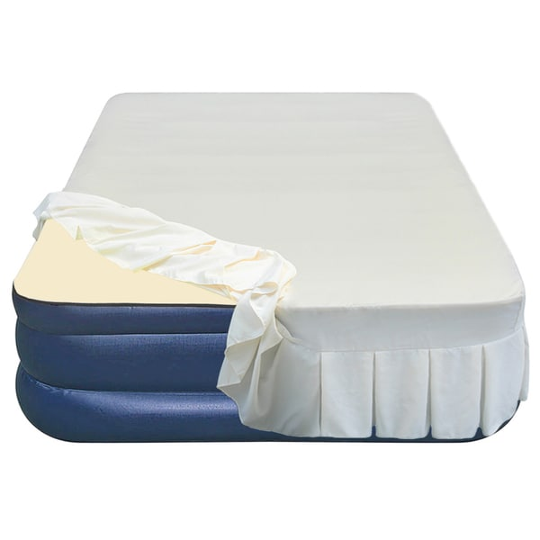 Serta Air Mattress Full Size Airtek Foundation Series Queen-size Airbed with Memory Foam Topper ...