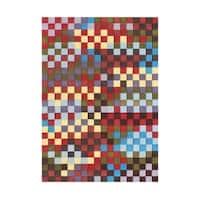 Alliyah Handmade Red New Zealand Blend Wool Rug - 8'x10'