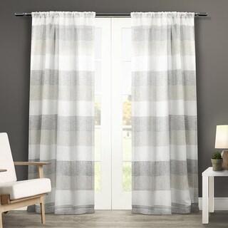 ATI Home Bern Rod Pocket Window Curtain Panel Pair
