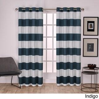 Havenside Home Rohoboth Cotton Cabana Stripe Grommet Top Curtain Panel Pair