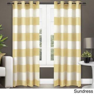 ATI Home Surfside Cotton Cabana Stripe Grommet Top Curtain Panel Pair