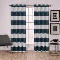 Havenside Home Rohoboth Cotton Cabana Stripe Grommet Top Curtain Panel Pair