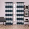 ATI Home Surfside Cotton Cabana Stripe Grommet Top Curtain Panel Pair