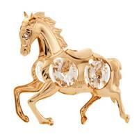 Matashi Goldplated Genuine Crystals Mustang Horse Ornament