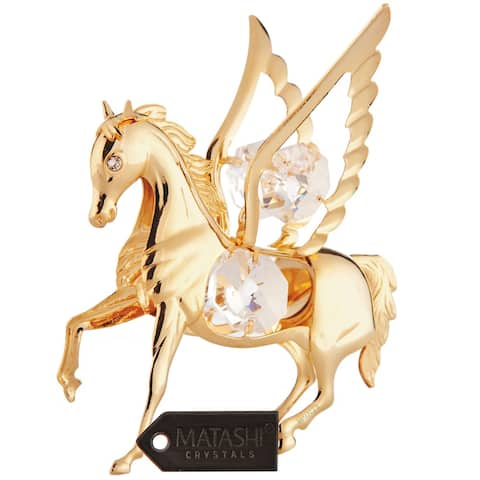Matashi Goldplated Genuine Crystals Pegasus Ornament