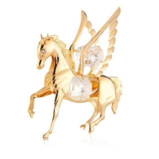 Matashi 24k Goldplated Genuine Crystals Pegasus Ornament