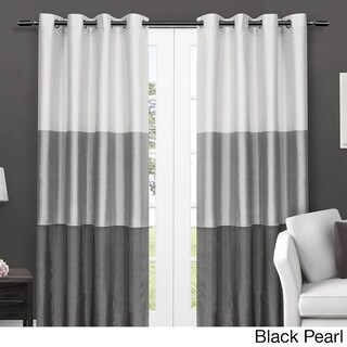 ATI Home Chateau Striped Window Curtain Panel Pair with Grommet Top (More options available)