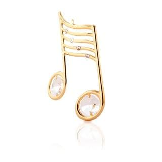 Matashi 24k Goldplated Genuine Crystals Musical Note Ornament