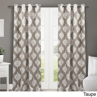ATI Home Medallion Blackout Window Curtain Panel Pair with Grommet Top (More options available)