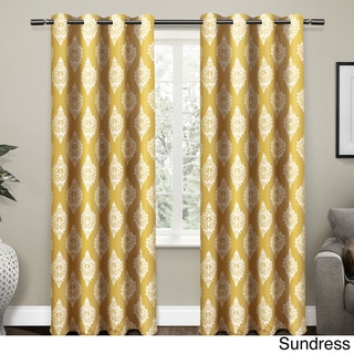 ATI Home Medallion Blackout Thermal Grommet Top 84-inch Curtain Panel Pair